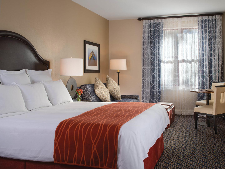 Marriott's Timber Lodge<span class='trademark'>®</span> Villa Master Bedroom. Marriott's Timber Lodge<span class='trademark'>®</span> is located in South Lake Tahoe, California United States.