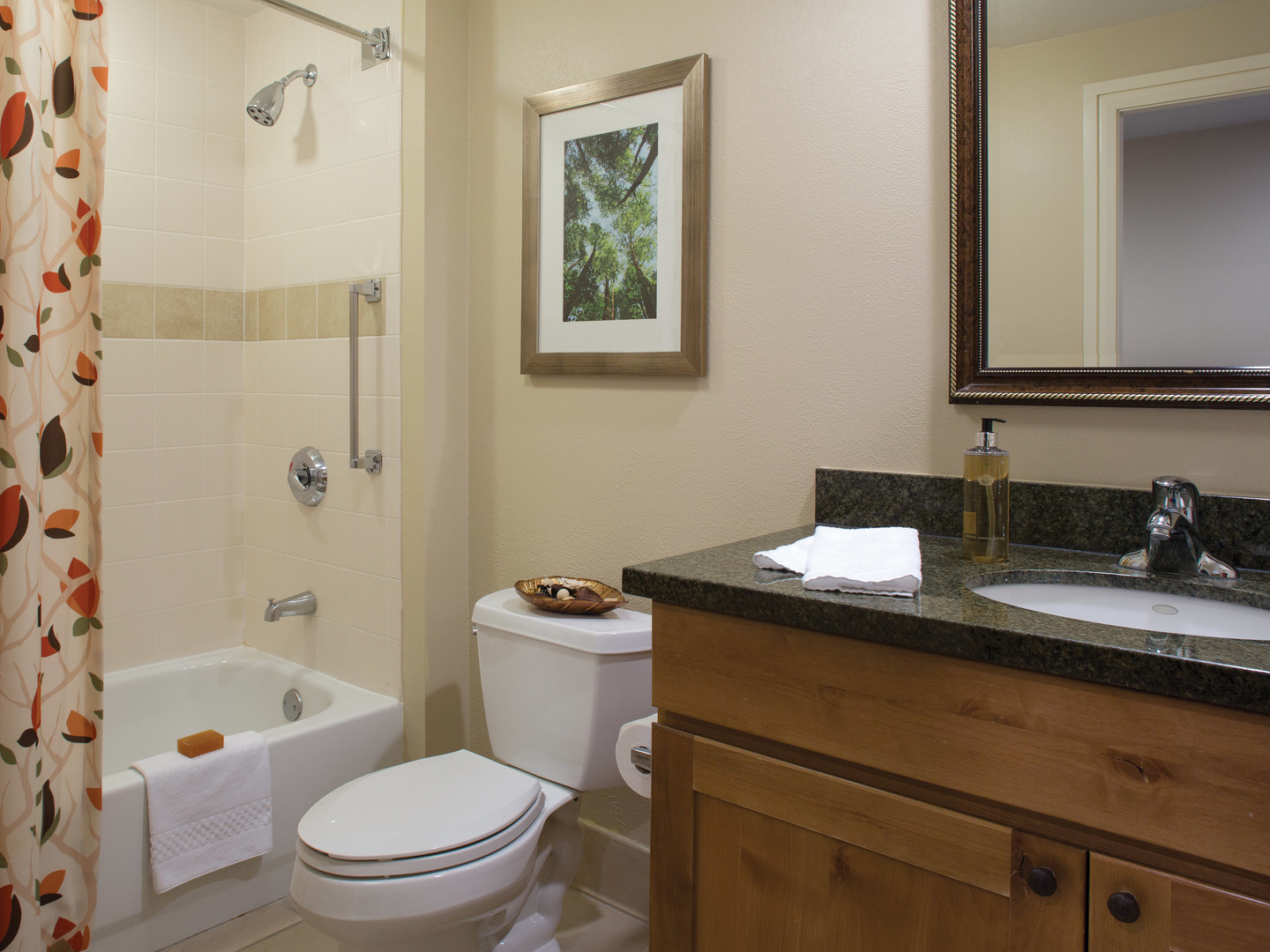 Marriott's Timber Lodge<span class='trademark'>®</span> Villa Bathroom. Marriott's Timber Lodge<span class='trademark'>®</span> is located in South Lake Tahoe, California United States.