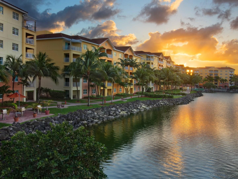 Marriott's Villas at Doral Aerial Resort Exterior. Marriott's Villas at Doral is located in Miami, Florida United States.