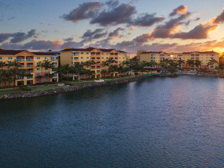 Marriott's Villas at Doral Aerial Resort View. Marriott's Villas at Doral is located in Miami, Florida United States.