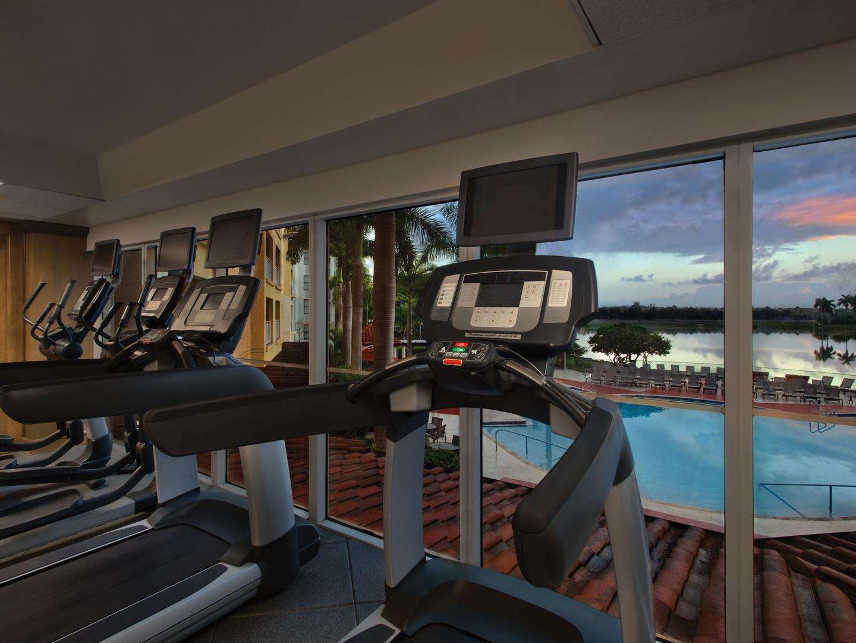 Marriott's Villas at Doral Fitness Center. Marriott's Villas at Doral is located in Miami, Florida United States.