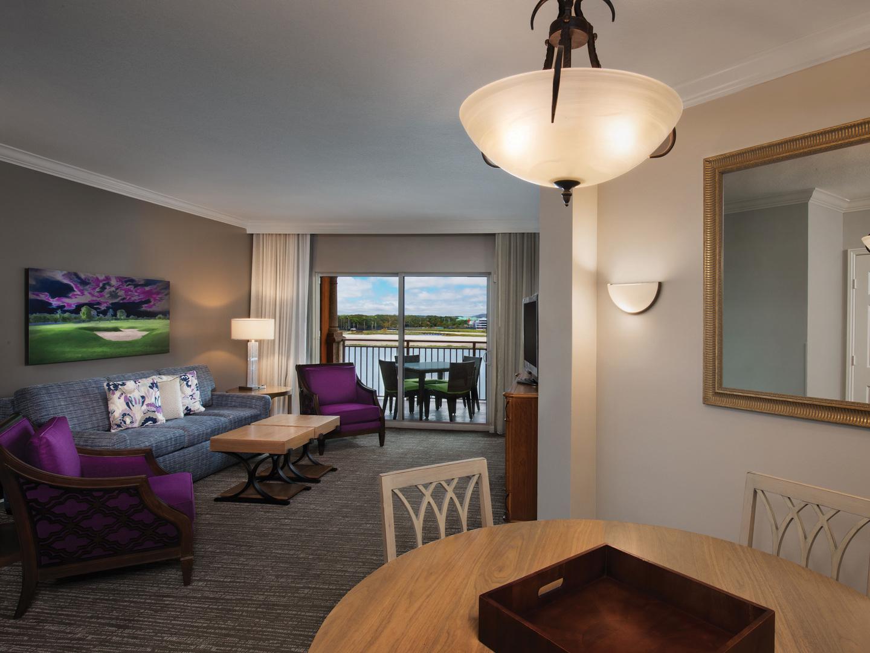 Marriott's Villas at Doral Villa Living Room. Marriott's Villas at Doral is located in Miami, Florida United States.
