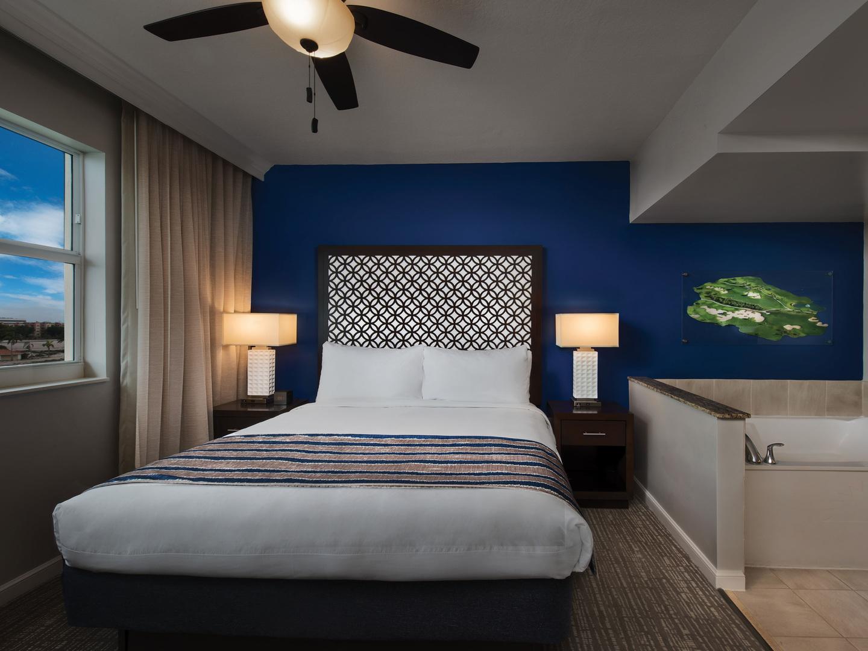 Marriott's Villas at Doral Villa Master Bedroom. Marriott's Villas at Doral is located in Miami, Florida United States.