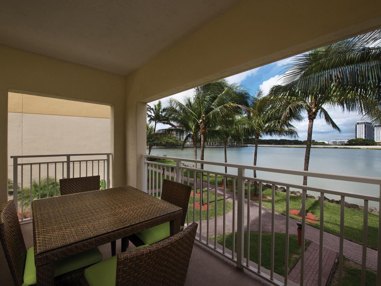 Marriott's Villas at Doral Villa 2-Bedroom Balcony. Marriott's Villas at Doral is located in Miami, Florida United States.