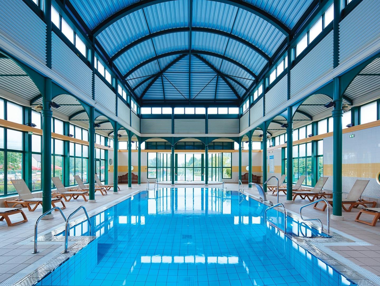 Marriott's Village d'Ile-de-France Indoor Pool. Marriott's Village d'Ile-de-France is located in Bailly-Romainvilliers,  France.