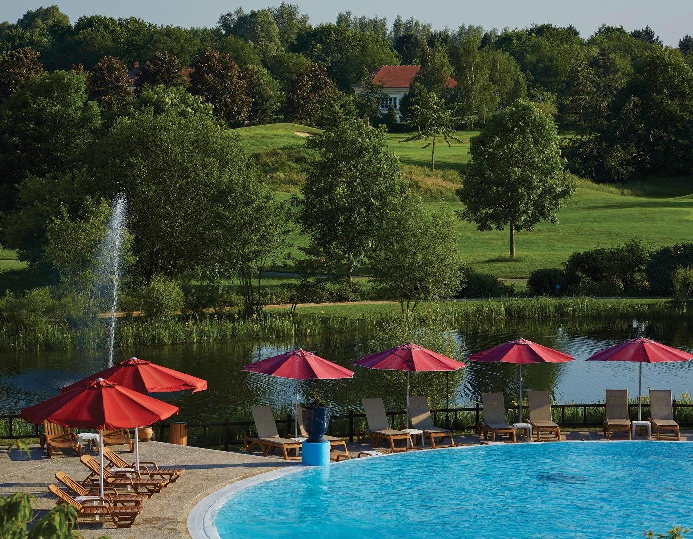 Marriott's Village d'Ile-de-France Main Pool. Marriott's Village d'Ile-de-France is located in Bailly-Romainvilliers,  France.