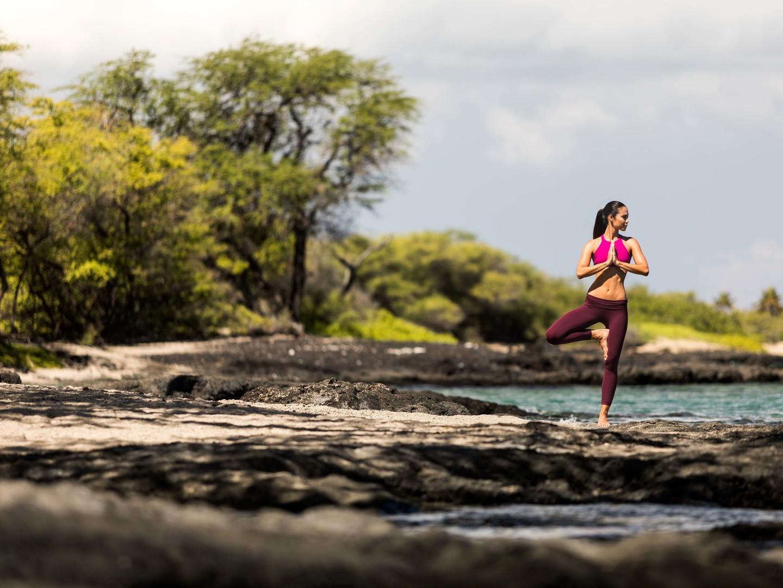 Marriott's Waikoloa Ocean Club Morning Yoga. Marriott's Waikoloa Ocean Club is located in Waikoloa Beach, Big Island, Hawai'i United States.