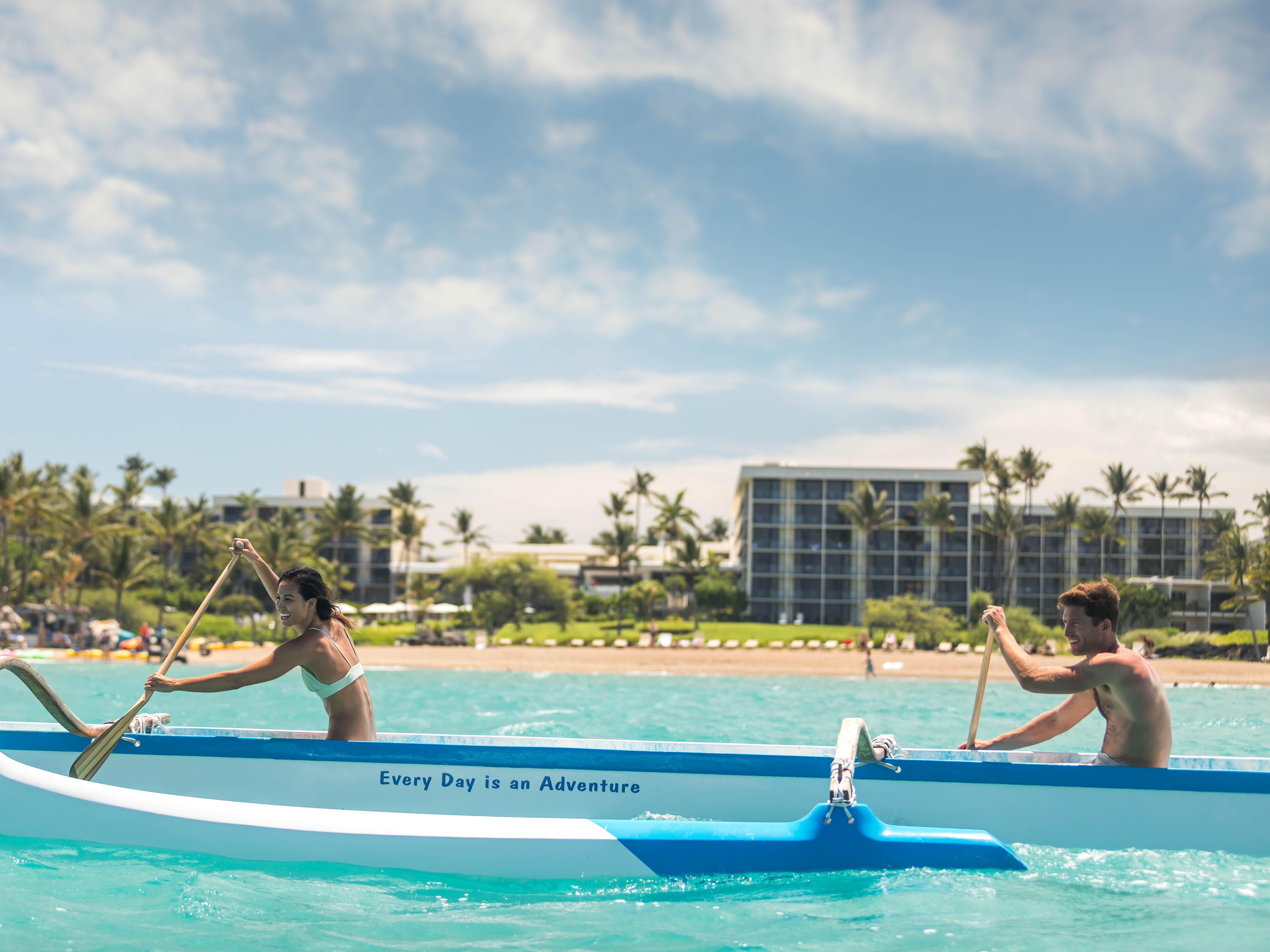Marriott's Waikoloa Ocean Club Rowing. Marriott's Waikoloa Ocean Club is located in Waikoloa Beach, Big Island, Hawai'i United States.