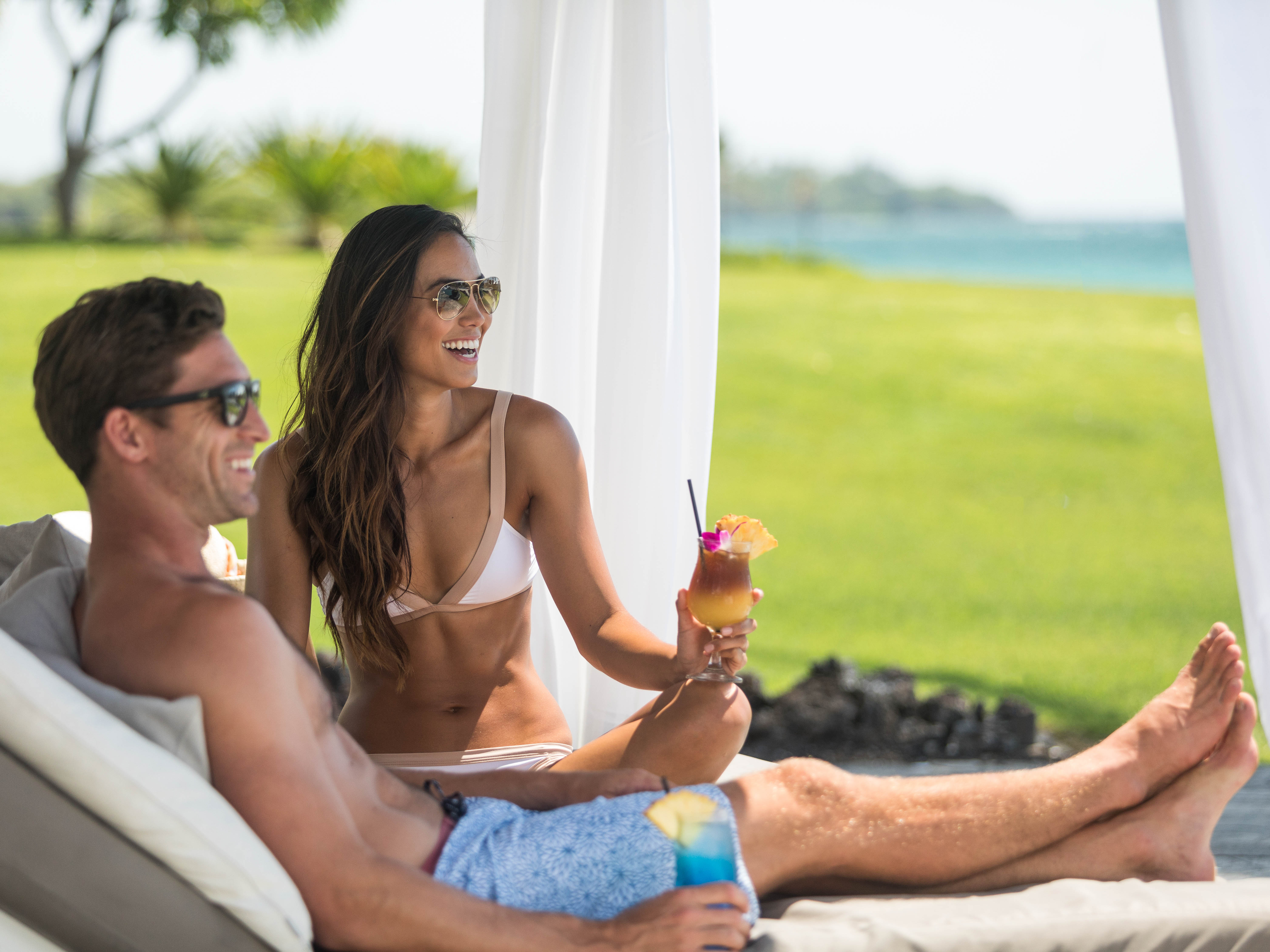 Marriott's Waikoloa Ocean Club Poolside Cabana. Marriott's Waikoloa Ocean Club is located in Waikoloa Beach, Big Island, Hawai'i United States.