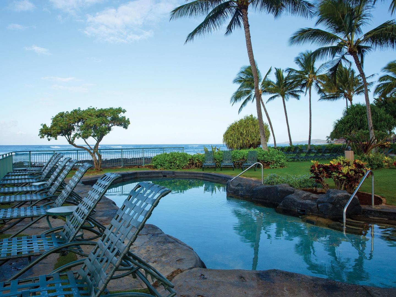 Marriott's Waiohai Beach Club KeiKi Pool. Marriott's Waiohai Beach Club is located in Koloa, Kauai, Hawai'i United States.