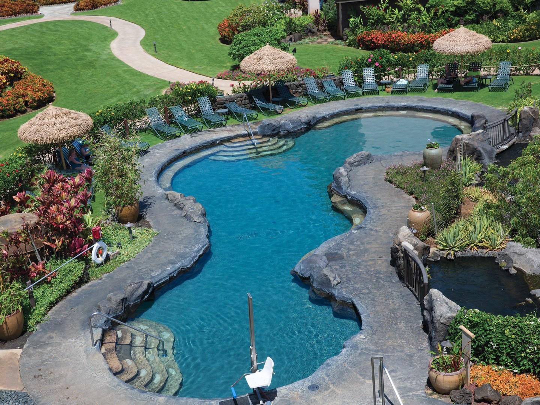 Marriott's Waiohai Beach Club Garden Quiet Pool. Marriott's Waiohai Beach Club is located in Koloa, Kauai, Hawai'i United States.