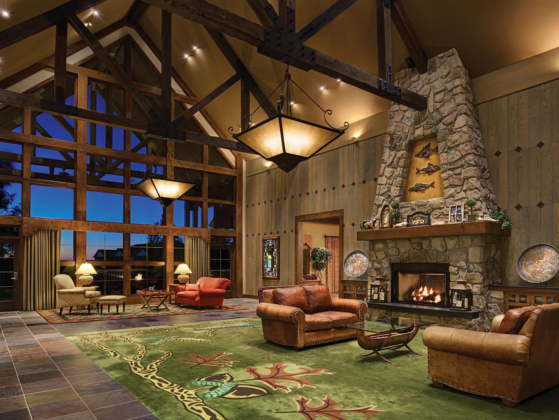 Marriott's Willow Ridge Lodge Resort Lobby. Marriott's Willow Ridge Lodge is located in Branson, Missouri United States.