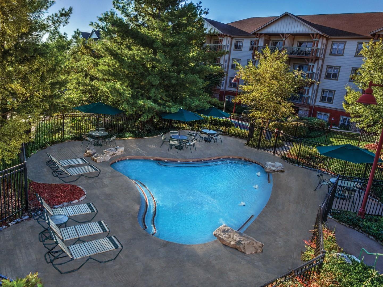 Marriott's Willow Ridge Lodge Children's Cascade Pool. Marriott's Willow Ridge Lodge is located in Branson, Missouri United States.