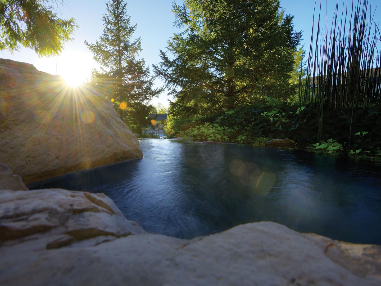 Marriott's Willow Ridge Lodge Cascades Pool Area. Marriott's Willow Ridge Lodge is located in Branson, Missouri United States.