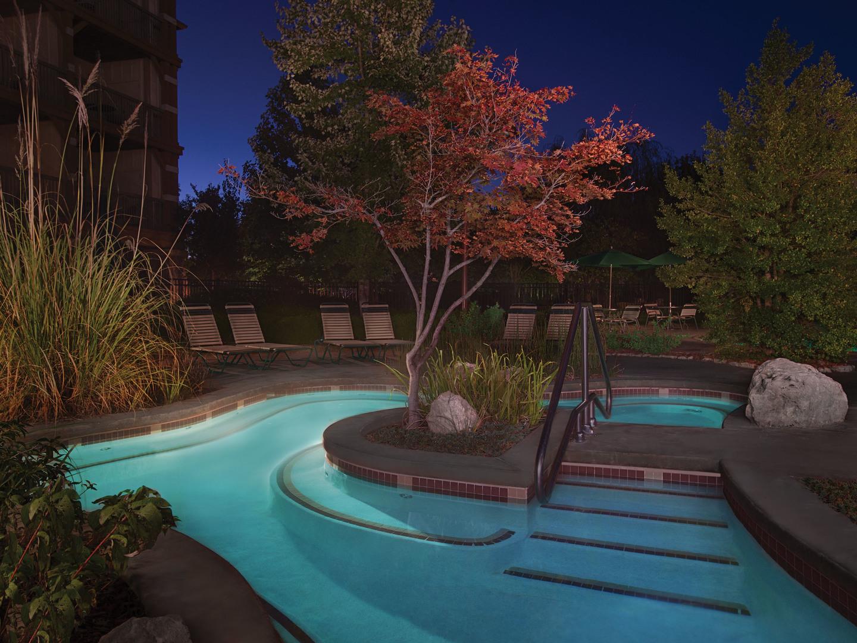 Marriott's Willow Ridge Lodge Cascades Whirlpool Spa. Marriott's Willow Ridge Lodge is located in Branson, Missouri United States.
