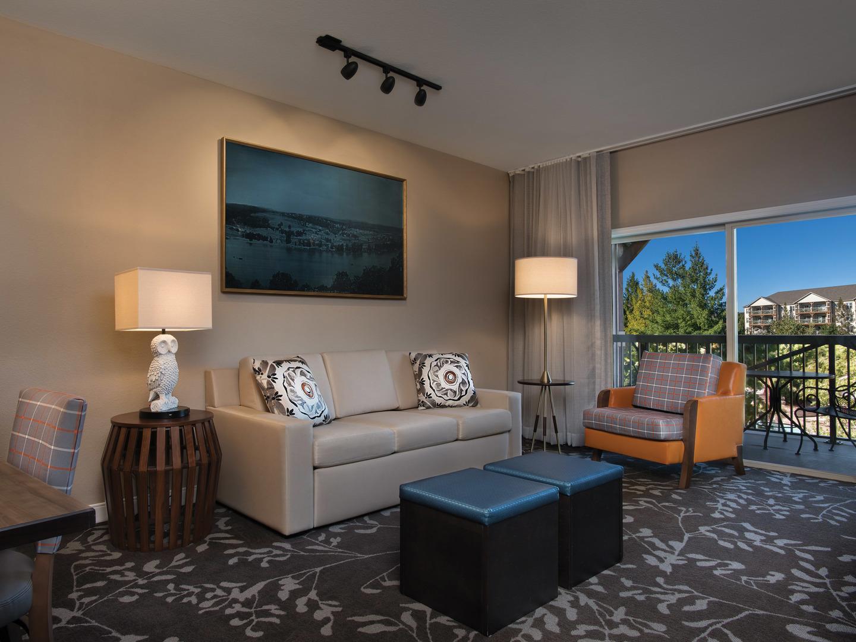 Marriott's Willow Ridge Lodge Villa Living Room. Marriott's Willow Ridge Lodge is located in Branson, Missouri United States.