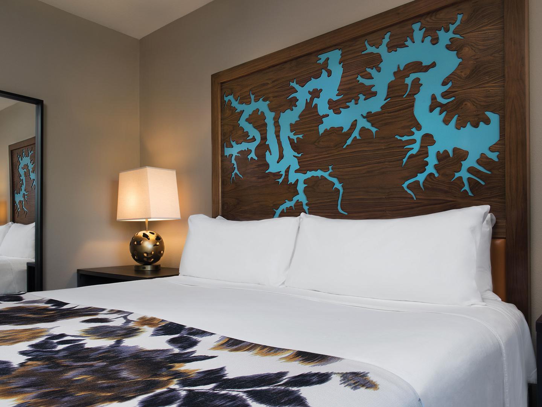 Marriott's Willow Ridge Lodge Villa Master Bedroom. Marriott's Willow Ridge Lodge is located in Branson, Missouri United States.