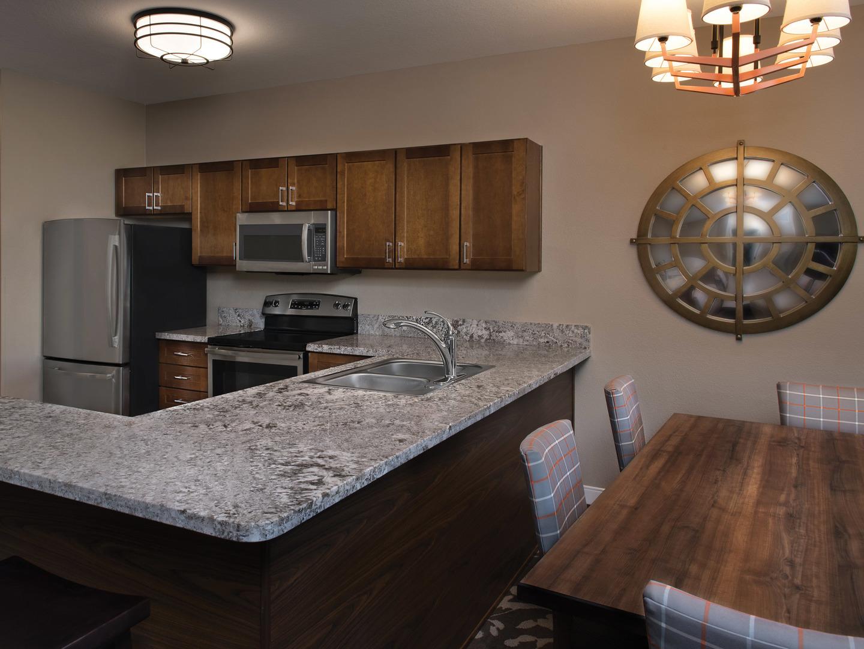 Marriott's Willow Ridge Lodge Villa Kitchen. Marriott's Willow Ridge Lodge is located in Branson, Missouri United States.