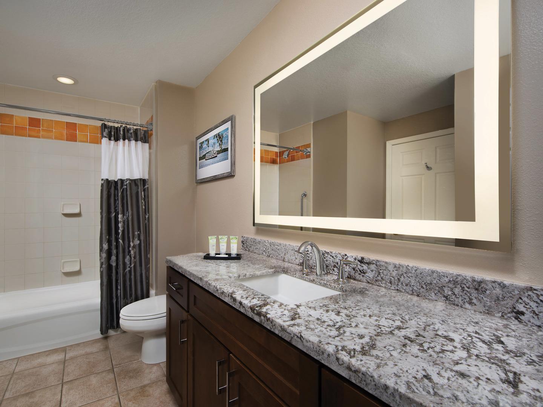 Marriott's Willow Ridge Lodge Villa Master Bathroom. Marriott's Willow Ridge Lodge is located in Branson, Missouri United States.