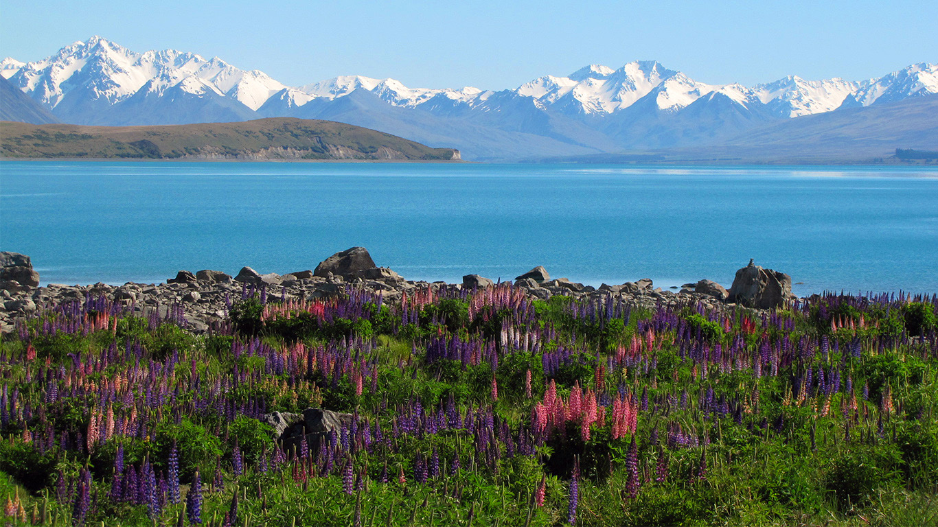 View from Kaikoura, New Zealand's top of the South Island.