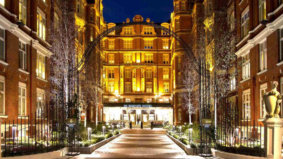 Front entrance to the St. Ermin's Hotel in London, part of the Autograph Collection