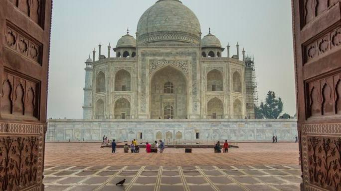 View of the Taj Mahal in Northern India, part of an 8-day package.