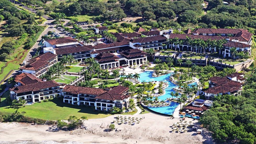 Aerial view of the JW Marriott Guanacaste Resort & Spa in Coasta Rica.